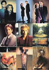 THE X-FILES SEASON 1 1995 TOPPS COMPLETE PARALLEL CARD SET OF 72 TV BASE