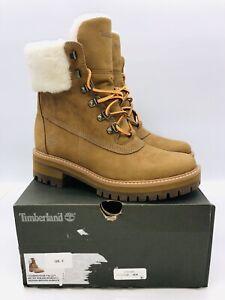 "Timberland Women's Courmayeur Valley Shearling WP 6"" Boot Dark Sand US 7 EUR 38"