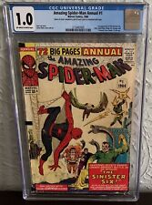 AMAZING SPIDER-MAN ANNUAL #1 CGC 1.0 1964 1ST APPEARANCE OF THE SINISTER SIX