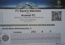 TICKET UEFA CL 2015/16 FC Bayern München - Arsenal FC
