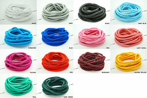 4mm Round Knitted Piping Polyester Cord Bracelet Craft Jewelry Sew Trims String