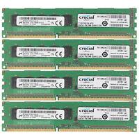 For Micron 32GB 4X8GB PC3L-10600E DDR3-1333MHZ ECC Unbuffered Server Memory RAM