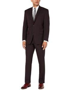 Marc New York Mens Suit Set Purple Size 40 Short 2 Piece Modern Fit $395 #066
