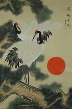 Japanisches Rollbild Kakejiku Kakemono Kraniche Japan Roll-Up Geschenk Asia 4384