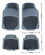 4PCS BLACK CAR FLOOR MAT MATS SET CARPET & RUBBER NON-SLIP GRIP FRONT REAR