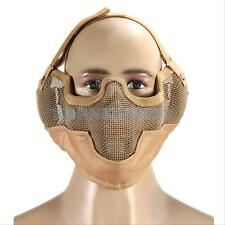Airsoft Steel Mesh Half Face Mask Tactical Protect Strike Paintball Ears Protect