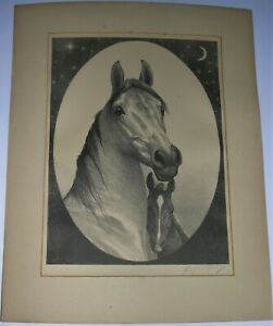 The Listening Mare AAA Lithograph, George Ford Morris Listed Equine Artist