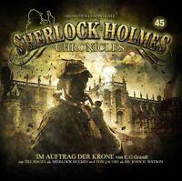 SHERLOCK HOLMES CHRONICLES - IM AUFTRAG DER KRONE FOLGE 45  2 CD NEW