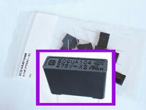 10 20x PANASONIC 0.1uF 275VAC X2 SAFETY FILM CAPACITOR Metallized Polypropylene