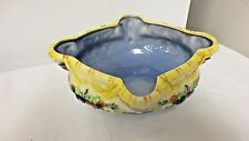 Older Maruhon Ware Japan Oval Footed, Diamond Shap Top Bowl- Fruits
