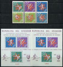 Ecuador 1966 Olympiade Olympics Sport Grenoble 1274-49 + Block 28 A/B ** MNH