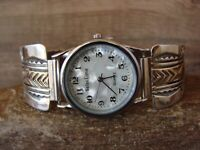 Native American Indian Jewelry Sterling Silver 14K Gold Fill Watch - B. Morgan