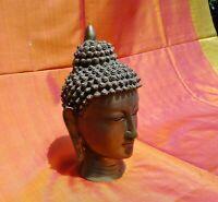 Bouddha Statue Tête Bronze 3,7 kilos Buddha Travaillé à la main Inde Tibet Népal