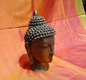 Bouddha Statue Tête Bronze 3,7 kilo Buddha Travaillé à la main Inde Tibet Népal