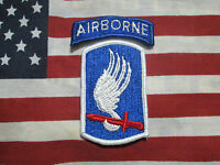 VIETNAM ERA 173RD AIRBORNE BRIGADE DRESS COLOR SSI PATCH OUT OF 1966 MFG BOX