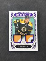 2018-19 UPPER DECK ARTIFACTS RYAN DONATO ROOKIE DUAL PATCH PURPLE #ed 19/49