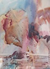 """BEACH COMBERS""  original watercolor by American artist Micheal Jones"