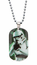 Star Wars Graphic Stormtrooper Kids Dog Tag Pendant Stainless Steel Necklace