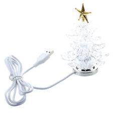 USB Powered Miniature Christmas Tree With Multicolor LEDs A6E8 W2H5