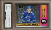 GMA 10 Gem ELIAS PETTERSSON 2018/19 OPC Platinum *RETRO* ROOKIE Card CANUCKS!