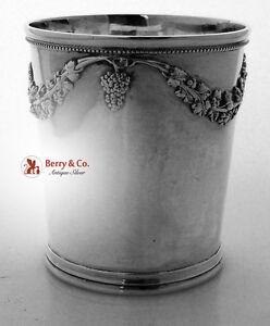 American Coin Silver Beaker Baldwin Christmas 1852