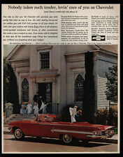1960 CHEVROLET Red Impala Convertible Car - Loving Care - Wedding - VINTAGE AD