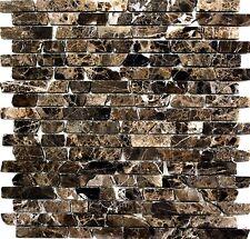 Mosaik Verbund uni Castanao Fliesenspiegel Küche Wand Art: 40-0185 | 10 Matten