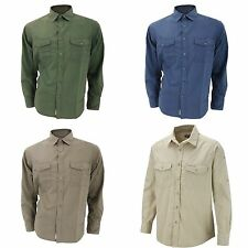 Craghoppers Men's No Pattern Polycotton Casual Shirts & Tops