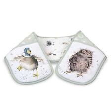 Pimpernel Wrendale Country Set Double Oven Glove Mitt Animal Owl Duck Badger