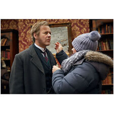 Sherlock on Set Filming Getting Make-up Touch Ups 8 x 10 Inch Photo