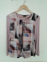 Lebek Blush Floral Top Size UK 10
