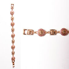 Vintage Gianni Versace Rose Gold 90s Medusa Head Bracelet