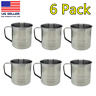 6 Pack Unbreakable Stainless Steel Coffee Soup Mug Tumbler Camping Mug Cup 16oz