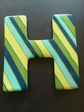 Metal Letter H. The dimensions in inches are 9x91/2.