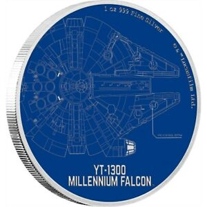 STAR WARS SHIP SERIES YT-1300 MILLENNIUM FALCON S/PROOF RARE LIMIT EDITION COIN
