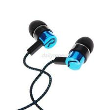 New Blue ABS MP3/mp4 Roping Stereo 3.5mm Subwoofer In Ear Headphone Earbud New