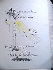 Lithographie Fritz Behn, 1914, Titelblatt Afrikanische Visionen sign. ~ A2