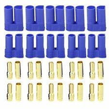 5 Pairs EC5 RC Lipo Battery Connector Gold Bullet Banana Plug Male & Female