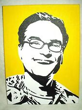 Canvas Painting The Big Bang Theory Leonard Yellow Art 16x12 inch Acrylic