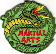 """MARTIAL ARTS"" - Iron On Embroidered Applique Patch, Sports,Games, Defense"