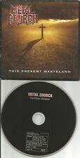 METAL CHURCH Present Wasteland CARD SLEEVE ADVNCE GERMANY PROMO CD USA Seller