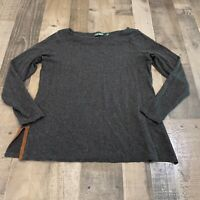 Lauren Ralph Lauren Adult Womens Size Large Long Sleeve Pullover Dark Gray Top