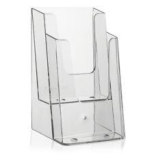 Tischprospektständer / Flyerhalter / Flyerständer DIN lang (DL) A6 mit 2 Etagen