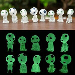 10PC Figures Princess Mononoke Forest Spirit Elf Kodama Glow In Dark Toys US