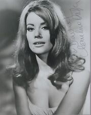 CLAUDINE AUGER HAND SIGNED 8x10 PHOTO+COA         SEXY BOND GIRL        TO DAVID