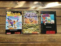 NINTENDO MANUAL LOT #3 SNES / Buster Bros, Mario Paint & Populous