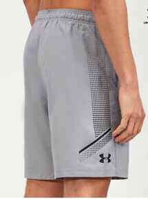 Under Armour Woven Graphic Mens Training Shorts - Steel Grey,Small &  large