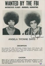 ANGELA YVONNE DAVIS SIGNED WANTED BY THE FBI 12X18 POSTER PSA COA AD74587
