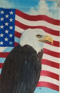 "75% off of 5 Eagle House Flags by Toland 24"" x 36"", Durable & Colorfast!  #904"