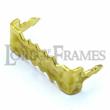 24mm Brass No-Nail Self-Fix Saw-Tooth Hanger Hook Picture Frame / Canvas Hanging